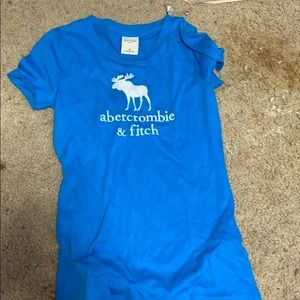 Kids Abercrombie and Fitch blue shirt